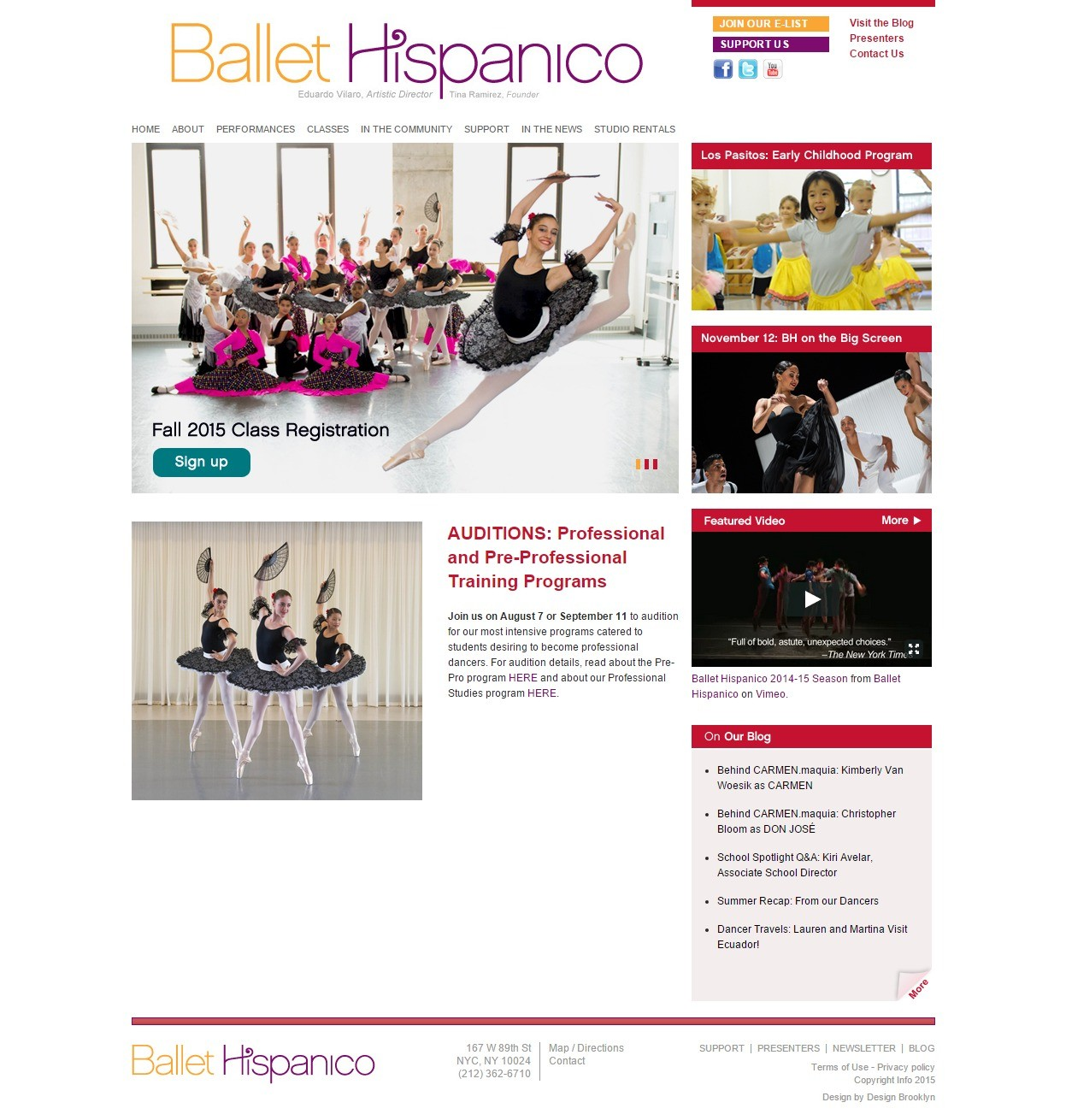 Ballet Hispanico Homepage