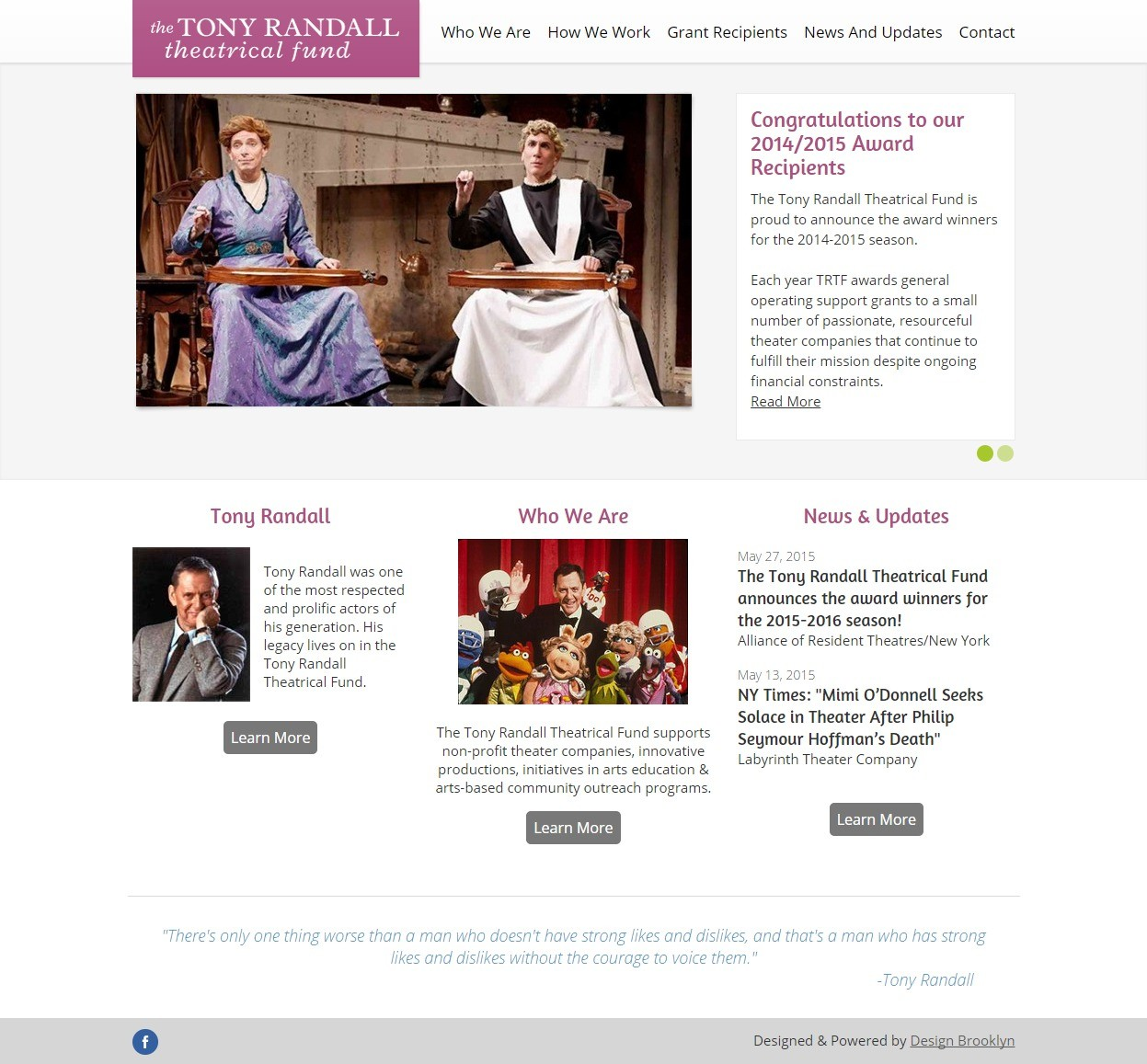The Tony Randall Theatrical Fund Homepage